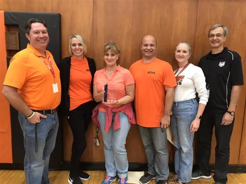 Six ACHS teachers with STEM award