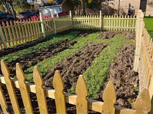 Fencing and garden soil