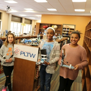 Middle School students hold P.L.T.W. projects