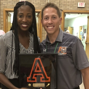 Alumni Track & Field Star, Ashley Fields, Inspires Student-Athletes
