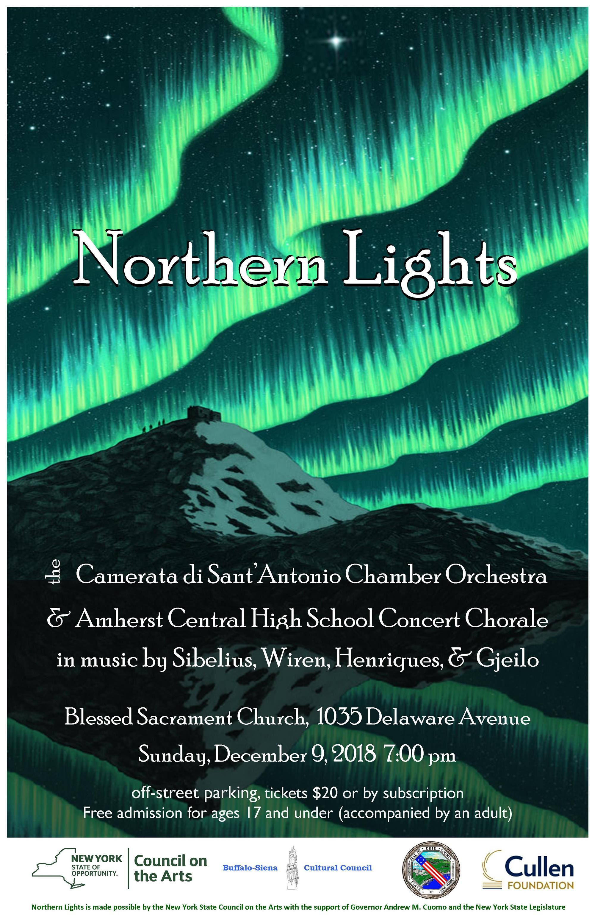 flier with information on Northern Lights