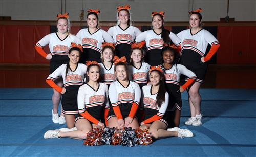 Girls varsity winter cheer squad