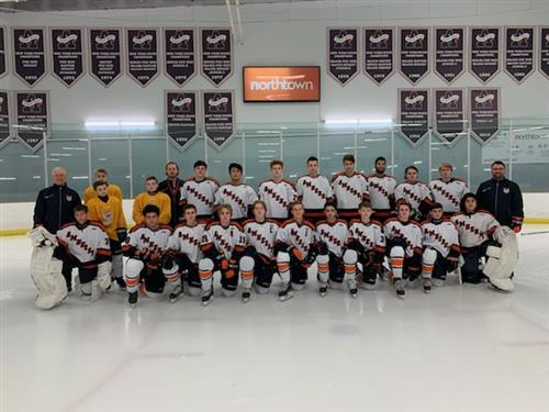Boys Varsity Ice Hockey Team Photo