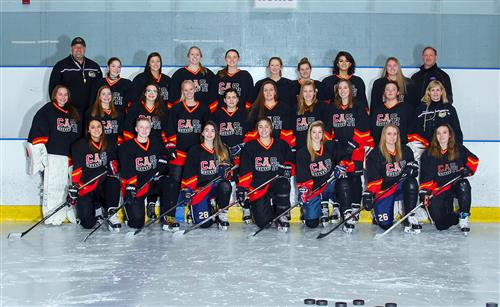 The CASH girls hockey team