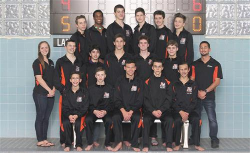 Boys varsity swim team