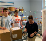Student Athletes sort donations