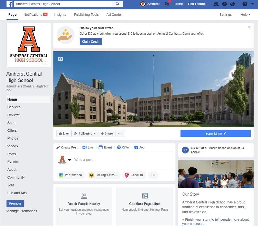 ACHS Facebook Page