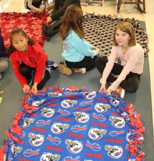 Smallwood girls make blankets