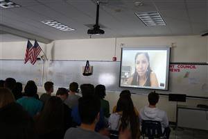 Skyping with Chile professor